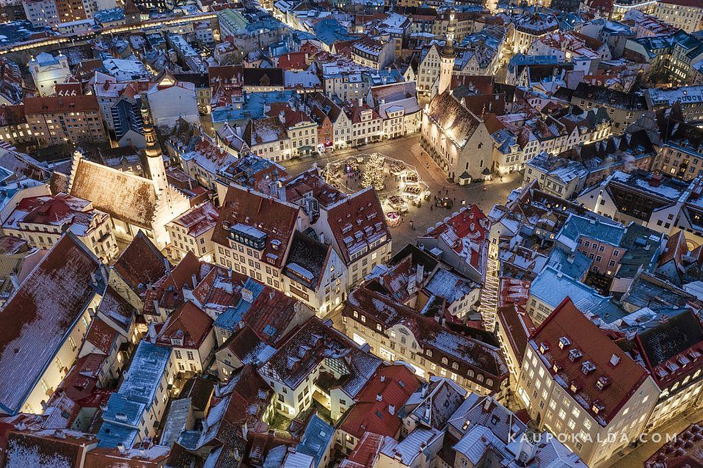 Talv jõudis vanalinna